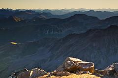 Early morning view from Piz Languard (3261 m). (echumachenco) Tags: mountain mountainside mountains mountainrange ridge crest peak summit valley biew panorama august summer morning dreitausender pizlanguard alps outdoor landscape switzerland schweiz suisse svizzera svizra suiza graubünden grischun grigioni grisons engadin oberengadin pontresina nikond3100 sunlight shadow