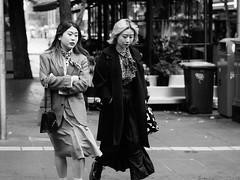 Olympus meets Olympus (McLovin 2.0) Tags: candid people street streetphotography urban city melbourne australia olympus em1 45mm bokeh bw fashion style scarf