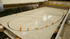 Tavolo ovale in marmo Bianco