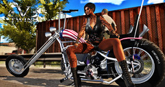 Easy Ryder - Cptn America - V-Twins (LilliSue Resident) Tags: vtwins sl bike chopper easyryder cptnamerica bikergirl milf