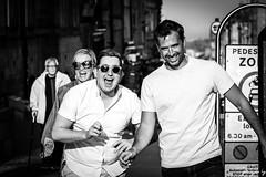 Happy People (Cycling-Road-Hog) Tags: blackwhite candid canoneos750d citylife colour efs55250mmf456isstm edinburgh edinburghstreetphotography monochrome people places royalmile scotland shades street streetphotography streetportrait style urban