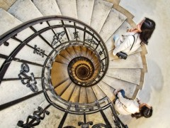 Onwards and upwards (Steve Brewer Photos) Tags: budapest hungary ststephensbasilica church tower lookout panorama spiralstaircase staircase panorámakilátó