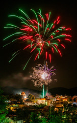 Orthodox Easter (Vagelis Pikoulas) Tags: fireworks orthodox easter canon 6d tokina 2470mm view landscape night nightscape village greece europe travel april spring 2019