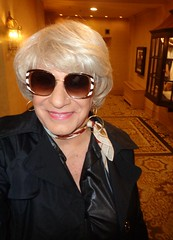 My Home-Away-From Home On A Sunday Afternoon (Laurette Victoria) Tags: woman laurette blonde kerchief milwaukee pfisterhotel sunglasses earrings