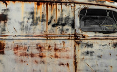 Freight Dog (Junkstock) Tags: aged abandoned artifact artifacts altebenutztegegenstände corrosion corroded california campo commerce decay decayed distressed lines line obsolete old oldstuff oldusedobjects oldcars oldcar rust rusty rusted relic transportation transport truck trucks weathered