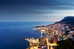 Monaco at the blue hour (l0came) Tags: monaco mirorless france flickr frenchriviera french facesun sony sonyflickraward sunset seaside sea sky sundown seascape night nightphotography nightlight nightscape bluehour europe escape explore