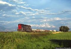 Work Train in Happy Valley (jamesbelmont) Tags: southernpacific unionpacific riogrande drgw tunnelmotor emd sd40t2 diffco worktrain lehi utah mesa railroad railway train locomotive