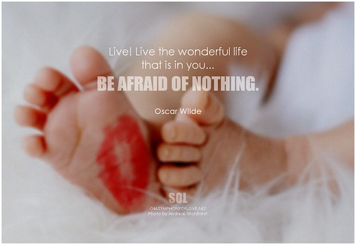 Oscar Wilde Live! Live the wonderful life that is in you...Be afraid of nothing