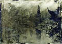 Dreamy workers day (Sonofsono) Tags: vappu oulu finland wet plate fkd black bw white glass river