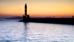 The Old Lighthouse (Bo.Th) Tags: greece crete chania outdoor old colors romantic rocks quiet water waterfront walk sea seaside seascape relax reflection see dreaming view rock architecture travel stone stones structure sky holidays history sun sunset silence light lighthouse landscape calm blue ocean tower