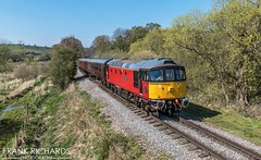 33021 | Basford Curve | 21st April '19 (Frank Richards Photography) Tags: class33 33021 eastleigh locomotive staffordshire cvr churnet valley railway staffs moorlands basford curve pole uk england crompton post office red easter panasonic fz1000 cheddleton consall froghall class33021 class 33 rail mark1coach