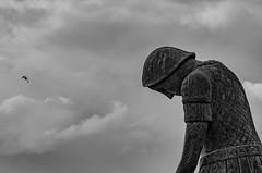 Francesco (Groe-z) Tags: all'aperto bianco nero statua assisi francis santo mistico nuvole cloud