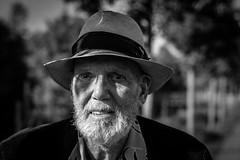 underwater eyes (Gerrit-Jan Visser) Tags: streetphotography portrait old man eyes underwater fragile hat bnw blackandwhite shadow beard