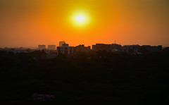 Sunset over Cubbon Park viewed from JW Marriott Hotel Bengaluru - Bangalore India (mbell1975) Tags: bangalore karnataka india sunset over cubbon park viewed from jw marriott hotel bengaluru indian sun orange