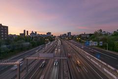 SUNSET, M-30, MADRID (Alex Aguirre Bueno) Tags: sunset puesta de sol atardecer autopista highway light clouds nubes