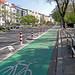 Geschützter Fahrradweg
