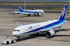 ANA Boeing 767-381/ER JA605A (Mark Harris photography) Tags: spotting haneda japan hnd ana boeing 767 canon 5d