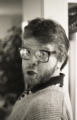 1986-January-BW-Sheet 001009-3 (Paul-W) Tags: bw blackandwhite 35mmfilm negatives scanned ilfordxp1 david dave farge