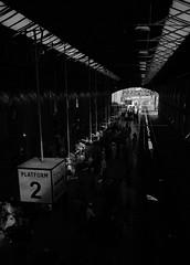Platform No. 2 (M Faran Hassan) Tags: bnw fineart faranhassanfineartphotography pakistan blackandwhite visuals bnwart hello helloworld pakistanphotographers art artofvisuals london stations railways londonphotographers