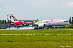 [ORY] RAM Boeing 787-9 Dreamliner _ CN-RAM (thibou1) Tags: thierrybourgain ory lfpo orly spotting aircraft airplane nikon d810 tamron sigma royalairmaroc boeing b7879 dreamliner b787 ram cnram landing atterrissage casablanca b789 boeing787