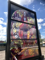 Glass of Thrones 3: House Baratheon, Queen's Quay at Lagan Weir, Belfast (John D McDonald) Tags: glassofthrones gameofthrones gameofthroneswindow gameofthronesstainedglasswindow stainedglasswindow stainedglass glass window iphone iphone7plus appleiphone appleiphone7plus belfast donegallplace northernireland ni ulster geotagged got colour colours street city citycentre tourism touristattraction belfasttourism northernirelandtourism gameofthronestourism tourismireland tourismni hbo wenlock debrawenlock baratheon housebaratheon houseofbaratheon laganweir laganweirbridge queensquay