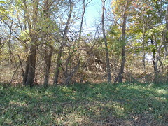 116. Even less is left of this collapsed home! Pawnee Station, 10-21-18 (leverich1991) Tags: exploring kansas 2018 pawnee station bourbon anna school