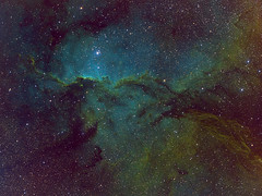 NGC6188_SecondProcess_Narrowband_S_HOS_O_RGBstars (skogpingvin) Tags: ngc6188 fightingdragons astrophotography narrowband