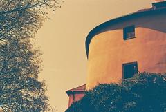 (Kkeina) Tags: film analog manual 35mm 50mm olympus om1 expired lomo europe castle castles sun light trees