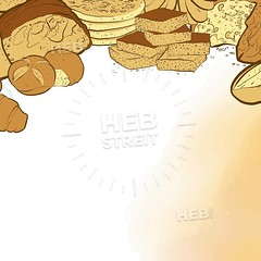 bakery breads banner with watercolor background (Hebstreits) Tags: agriculture background bagel baguette baker bakery banner barley bread breakfast cereal collection croissant design drawing drawn element field food french fresh grain graphic hand healthy icon illustration isolated loaf meal menu organic pastry pattern products retro rye set shop silhouette sketch symbol tasty template vector vintage watercolor wheat white