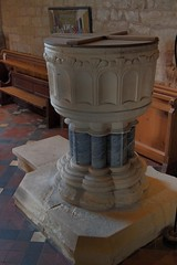 206-20180714_Weston under Penyard Church-Herefordshire-N Aisle, W end)-the Font (Nick Kaye) Tags: westonunderpenyard herefordshire england church font