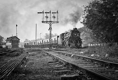 Bago Burma 15th January 2018 (loose_grip_99) Tags: bago burma asia railway railroad rail train steam engine january 2018 locomotive vulcan foundry 462 yc pacific 629 semaphore signals signalbox blackwhite noiretblanc transportation myanmar tracks gassteam trains railways farrail
