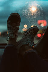 When it's raining on a Friday (Sarah Rausch) Tags: 50mm sony 20 converse bokeh rain sunday lowkey dark