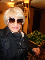 Ready For A Quick Getaway, Undetected (Laurette Victoria) Tags: blonde sunglasses laurette woman milwaukee pfisterhotel