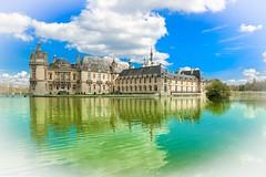 château de Chantilly  oise France (gilles207) Tags: chateau chantilly oise nag ngc 60 canon 5d histoire renaissance reflet parc eau castle saturation
