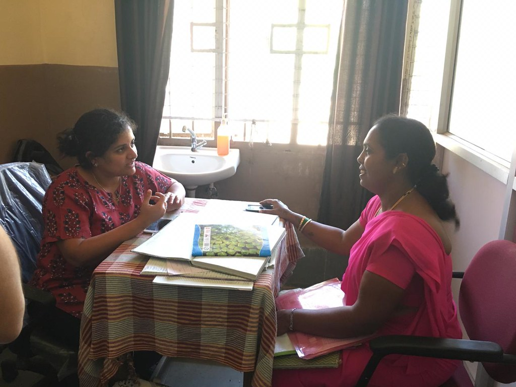 Interviewing an ASHA worker in Shimoga