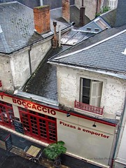 window view, Tours, France (Kurtsview) Tags: france tours windowview architecture rooftops citycenter city restaurant seating streetcafe