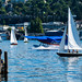 KENMORE AIR'S SPECIAL KING 5 EVENING MAGAZINE LIVERY LIFTING OFF FROM LAKE UNION