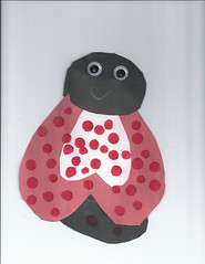 Lady bug Feb 2017 (quiros6) Tags: papercraft artwork paperart fingerpaint ladybug gradeschoolart