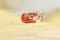 LEGO Star Wars Rey's Speeder (weeLEGOman) Tags: lego star wars rey reys speeder bike desert motion blur 75099 minifigure minifigures toy macro photography toys uk nikon d7100 105mm rob robert trevissmith weelegoman