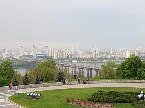 Kyiv skyline from Motherland Monument