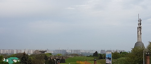 The Motherland Monument and Kyiv skyline