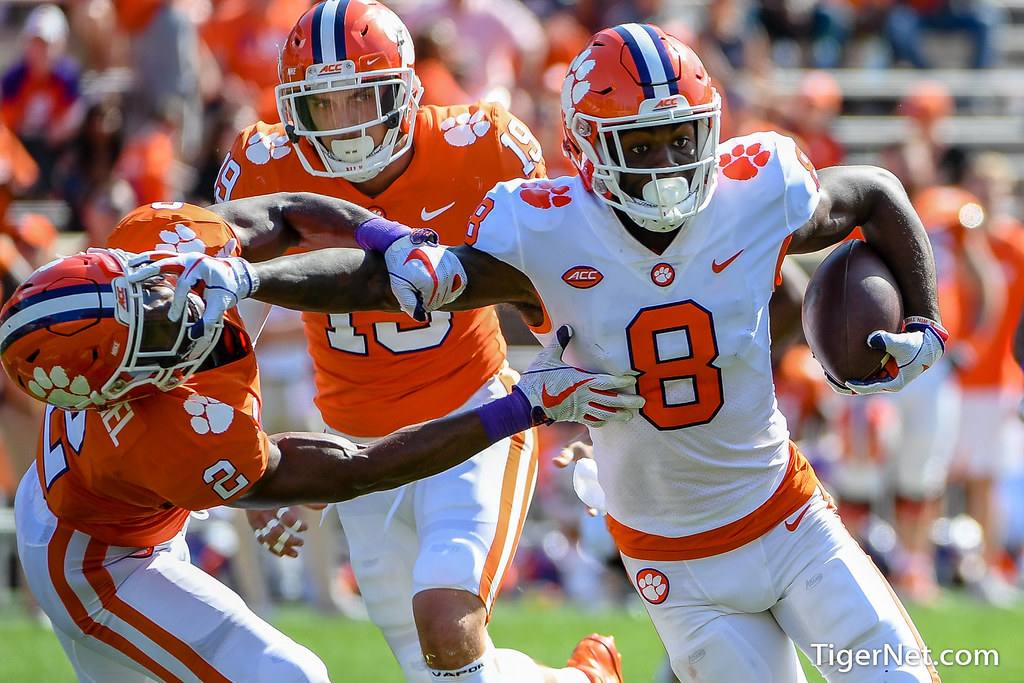 Clemson Photos: Justyn  Ross, Kyler  McMichael, 2019, Football