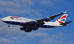 G-CIVW (b) 30/12/14 Heathrow (EGLL) (Lowflyer1948) Tags: gcivw boeing b747436 301214 heathrow cranford britishairways