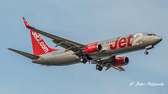 G-GDFX   Boeing 737-800  -  Jet2 (Peter Beljaards) Tags: final landing nikon7003000mmf4556 ams eham airplane aircraft schiphol haarlemmermeer nikon msn27987 cfm567 jet2vienna ggdfx 737 boeing737800 boeing737 b737 jet2 budget