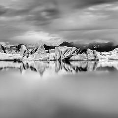 Glacier lagoon (frodi brinks photography) Tags: blackandwhite photography travel nature outdoor glacierlagoon lagoon glacier frodibrinks iceland