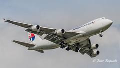 9M-MPS  Boeing 747-400F - Malaysia Airlines (Peter Beljaards) Tags: msn29902 pw4000 prattwhitney pw malaysiaairlines 9mmps cargoplane cargo freighter boeing747400f final landing nikon7003000mmf4556 ams eham airplane aircraft schiphol haarlemmermeer nikon 747 boeing747 queen