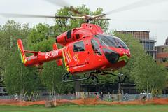 London's Air Ambulance in Shepherds Bush (kertappa) Tags: img7512 air ambulance londons london hems doctor paramedics hospital gehms emergency helicopter kertappa shepherds bush green