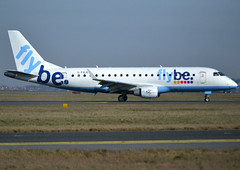 G-FBJE, Embraer ERJ-175STD (ERJ-170-200), c/n 17000336, BE-BEE-Jersey-FlyBe, CDG/LFPG 2019-02-17, taxiway Delta. (alaindurandpatrick) Tags: cn17000336 gfbje erj175 embraer embraererj175 embraerregionaljet jetliners airliners be bee jersey flybe airlines cdg lfpg parisroissycdg airports aviationphotography
