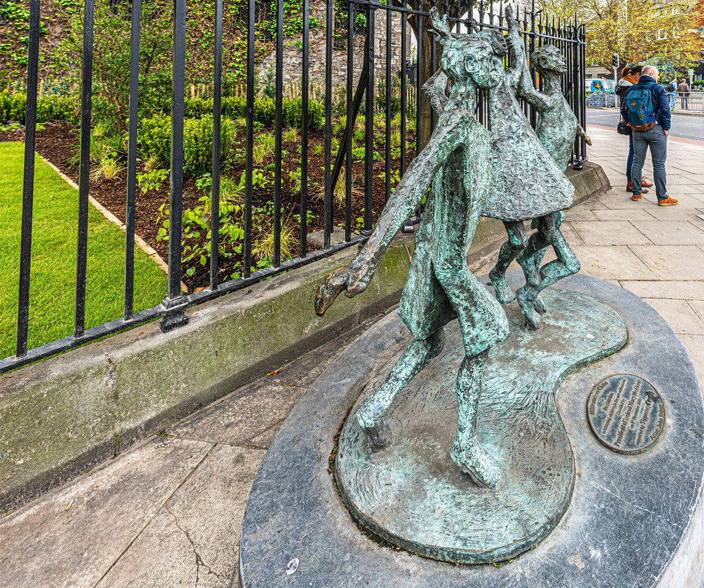 MILLENIUM CHILD  BY JOHN BEHAN ACROSS THE STREET FROM CHRIST CHURCH CATHEDRAL [AT THE PEACE PARK]-152103