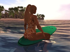 Out Past the Breakers (Janelle-TigerEyes) Tags: secondlife surfersbayvip belleza freya 7deadlys{k}ins stealthic laq ivy surfing virtuallife